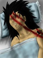 Gajeel Hurt coloured in by beccahanks