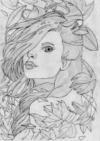 Beautiful girl drawing by 1DragonWarrior1