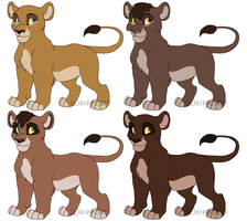 Lion Cub Adoptables -closed- by ripple09