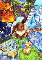 Eeveelution by Hyacinthley