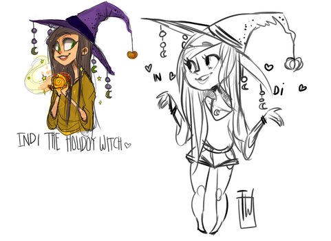 Indi Witch for you by temporaryWizard