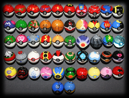 Pokemon - Pokeball pendants - Total by SuperSiriusXIII
