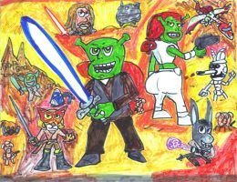 Shrek Wars by SonicClone