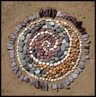 Pebble Mandala by ChaoticatCreations