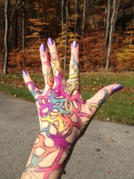 Hand Art #1 by FluffyThePorcupine