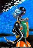 Diver Girl 2005 by arrakisart