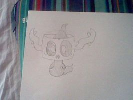Phantump doodle by MienfooInTraining