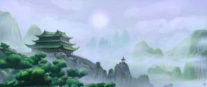 Lanscape Study : Kung Fu Panda by Leyming