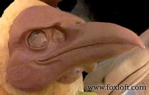 Raven mask WIP by Foxfeather248