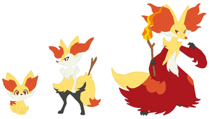 Fennekin, Braixen and Delphox Base
