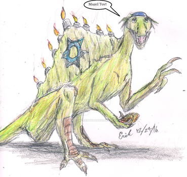 Spinosaurus Wishes You a Happy Hannukah! by Velociraptor-King
