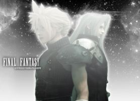 Cloud and Sepiroth Wallpaper by MyVampireLullaby