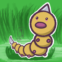 #013- Weedle by MaxWIllustration