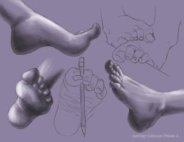 Feet Sketches 1 by Control-Zed