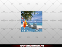 Vacation Ad Banner Free PSD by KRONTM