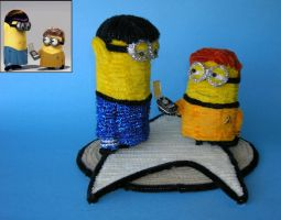 Pipecleaner Spock and Kirk Minions by fuzzymutt