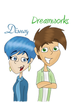 Art trade: Disney y Dreamworks by Worldboy1