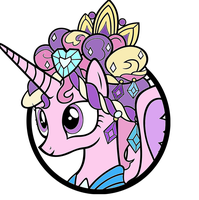 Princess Cadance Cordination Lineart colored by YugiohPonyAvengers