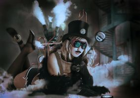 Steampunk girl 2 by jackodeco