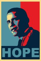 "Obama ""HOPE"" - Obey Style by o0gino0o"