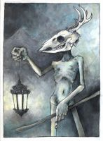 tarot card i: the hermit. by blackbirdpie
