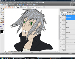 WIP Of a bishie by DietSoDuh