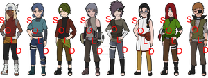 Naruto Adoptable Males Batch 2 - SOLD OUT by mistressmaxwell
