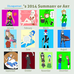 My Drawings in 2014 by DLeagueman