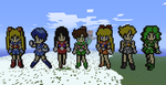 Minecraft- More Sailor Scouts by aprilgoddess