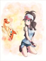 catching victini! by majigoma
