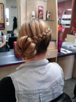Prom Updo Braid to Bun by Ne0Geisha