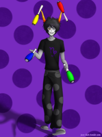 Commission - Juggling Gamzee by feshnie