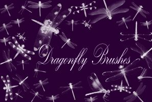 Dragonfly Brushes by Gothic11Shadow
