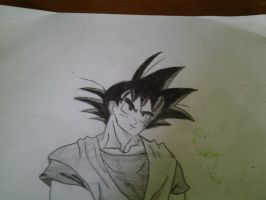 Goku Fanart - Really Old by AxelRaptr