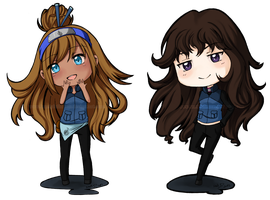 Chibi Commissions for Slorg121 by LonelyFullMoon