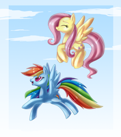 Flying Together by PauuhAnthoTheCat