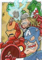 Avengers Attack by johnnyism