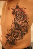 roses on ribs by jrunin