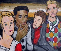Four Young Men by haute-clere