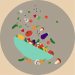 Vector vegetable plate by zapolzun