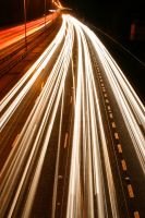 M25 Motorway Traffic Trails 4 by fruitycube