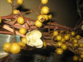 Gold berry decorations 2 by Reyphotos