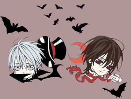 Zero, Kaname chibis coloured by murder-for-hire