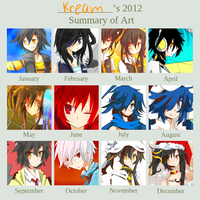 Kream's 2012 Art Summary by Kream-Cheese