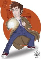 Commission - Tenth Doctor by happymonkeyshoes