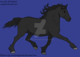 Nocturne Coloring Contest -  Horse by Boggeyboo