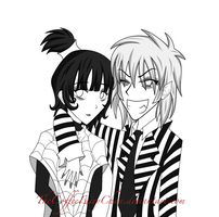 BeetleJuice And Lydia by TheCoffeeFairyChan