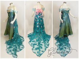 Elsa's Spring Dress Cosplay from Frozen Fever by glimmerwood
