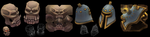 Low poly handpainted props. by Traggey
