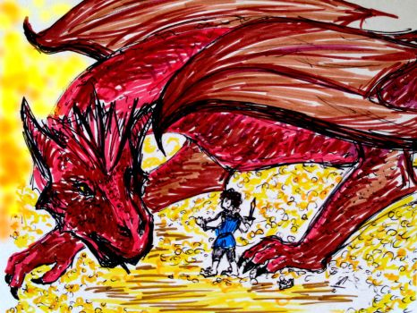 Smaug The Tremendous, The Magnificent, The Mighty by Sparrowchen